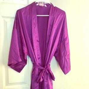 Victoria's Secret purple satin kimono